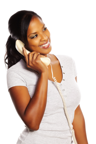Image of ethnic woman making a phone call